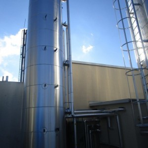 Hot water tank, volume 20,000 litres